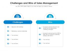 Challenges And Wins Of Sales Management