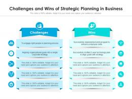 Challenges And Wins Of Strategic Planning In Business
