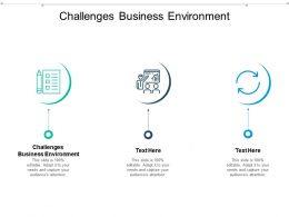 Challenges Business Environment Ppt Powerpoint Presentation Pictures Images Cpb