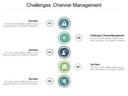 Challenges Channel Management Ppt Powerpoint Presentation Ideas Format Cpb