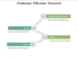 Challenges Difficulties Teamwork Ppt Powerpoint Presentation Show Ideas Cpb