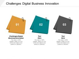 Challenges Digital Business Innovation Ppt Powerpoint Presentation Infographic Template Gridlines Cpb