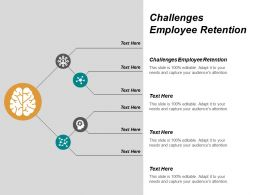 Challenges Employee Retention Ppt Powerpoint Presentation Infographic Template Icons Cpb