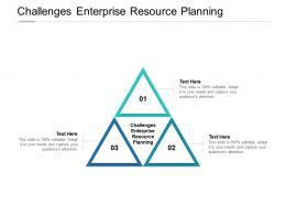 Challenges Enterprise Resource Planning Ppt Powerpoint Presentation Images Cpb