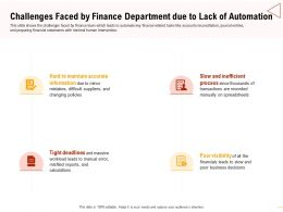 Challenges Faced By Finance Department Misfiled Reports Ppt Presentation Show