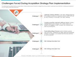Challenges Faced During Acquisition Strategy Accordingly Ppt Background