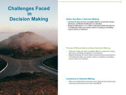 Challenges Faced In Decision Making Ppt Powerpoint Presentation Diagram Ppt