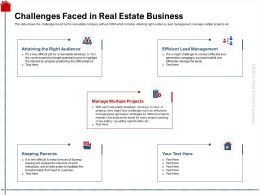 Challenges Faced In Real Estate Business Maintain Ppt Powerpoint Presentation Slides Outfit