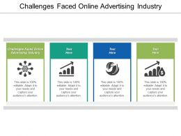 Challenges Faced Online Advertising Industry Ppt Powerpoint Presentation Pictures Graphics Download Cpb