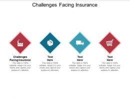 Challenges Facing Insurance Ppt Powerpoint Presentation Pictures Templates Cpb