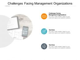 Challenges Facing Management Organizations Ppt Powerpoint Presentation Show Cpb