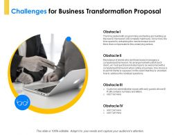 Challenges For Business Transformation Proposal Ppt Powerpoint Visual Aids