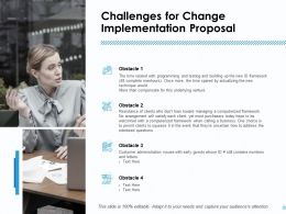 Challenges For Change Implementation Proposal Ppt Infographics Slides