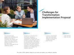 Challenges For Transformation Implementation Proposal Ppt Backgrounds