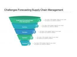 Challenges Forecasting Supply Chain Management Ppt Powerpoint Presentation Slides Template Cpb