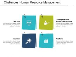 Challenges Human Resource Management Ppt Powerpoint Presentation Infographics Cpb
