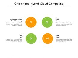 Challenges Hybrid Cloud Computing Ppt Powerpoint Presentation Ideas Background Designs Cpb