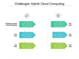 Challenges Hybrid Cloud Computing Ppt Powerpoint Presentation Outline Diagrams Cpb