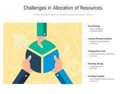 Challenges In Allocation Of Resources