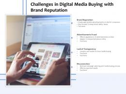 Challenges In Digital Media Buying With Brand Reputation