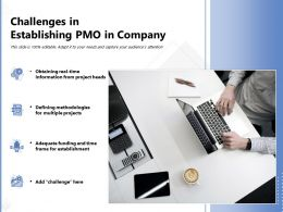 Challenges In Establishing PMO In Company