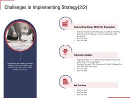 Challenges In Implementing Strategy Adoption Ppt Styles Templates