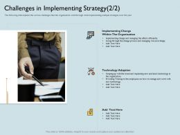 Challenges In Implementing Strategy Latest Ppt Powerpoint Presentation Inspiration Portfolio