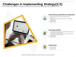 Challenges In Implementing Strategy M2998 Ppt Powerpoint Presentation Professional Rules