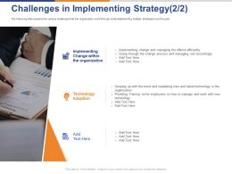 Challenges In Implementing Strategy Technology Ppt Powerpoint Presentation Show Rules