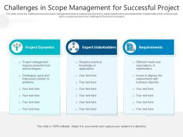 Challenges In Scope Management For Successful Project
