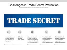 Challenges In Trade Secret Protection