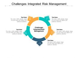 Challenges Integrated Risk Management Ppt Powerpoint Presentation Icon Cpb