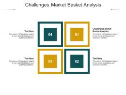 Challenges Market Basket Analysis Ppt Powerpoint Presentation Professional Themes Cpb