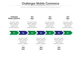 Challenges Mobile Commerce Ppt Powerpoint Presentation Ideas Icon Cpb