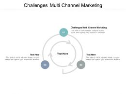 Challenges Multi Channel Marketing Ppt Powerpoint Presentation Show Aids Cpb