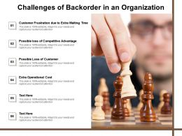 Challenges Of Backorder In An Organization