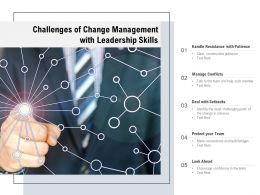 Challenges Of Change Management With Leadership Skills
