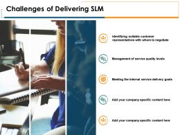 Challenges Of Delivering SLM Slide Management Company Ppt Powerpoint Presentation Pictures Outfit
