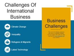 Challenges Of International Business Ppt Slide