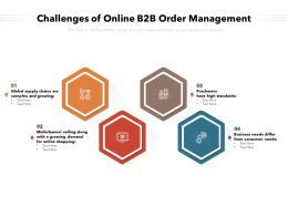 Challenges Of Online B2B Order Management