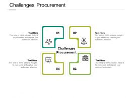Challenges Procurement Ppt Powerpoint Presentation File Guidelines Cpb