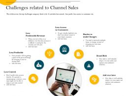 Challenges Related To Channel Sales Anymore Ppt Powerpoint Presentation Portfolio Graphic Tips