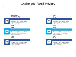 Challenges Retail Industry Ppt Powerpoint Presentation Infographics Graphics Template Cpb