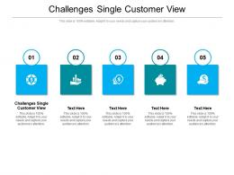 Challenges Single Customer View Ppt Powerpoint Presentation Infographic Template Files Cpb