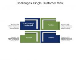Challenges Single Customer View Ppt PowerPoint Presentation Show Ideas Cpb