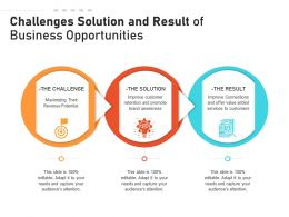 Challenges Solution And Result Of Business Opportunities