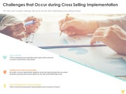 Challenges That Occur During Cross Selling Implementation Ppt Powerpoint Presentation Outline