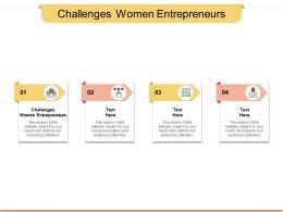 Challenges Women Entrepreneurs Ppt Powerpoint Presentation Inspiration Cpb