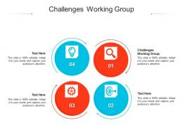 Challenges Working Group Ppt Powerpoint Presentation Show Background Image Cpb