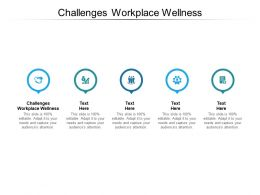 Challenges Workplace Wellness Ppt Powerpoint Presentation File Diagrams Cpb